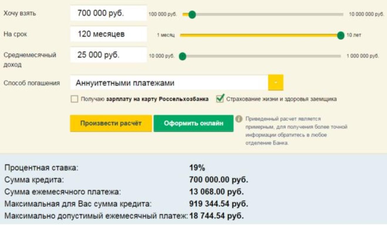Нецелевой потребительский кредит под залог жилья от Россельхозбанка.